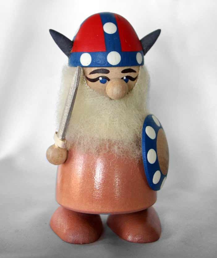 Figurine Wood Viking Norway Whorns 2200 Open House Imports