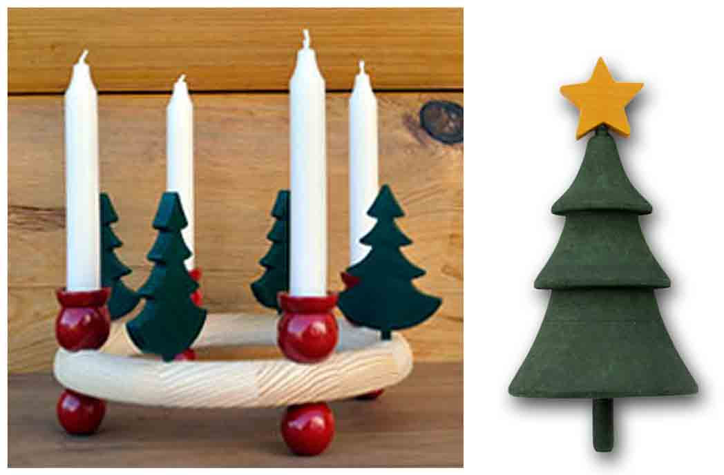 Candle Holder Advent Ring Taper Accessory Christmas Tree W Star 10 00 Open House Imports Providing Scandinavian Gifts For Your Family